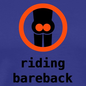 riding bareback - Premium T-skjorte for menn