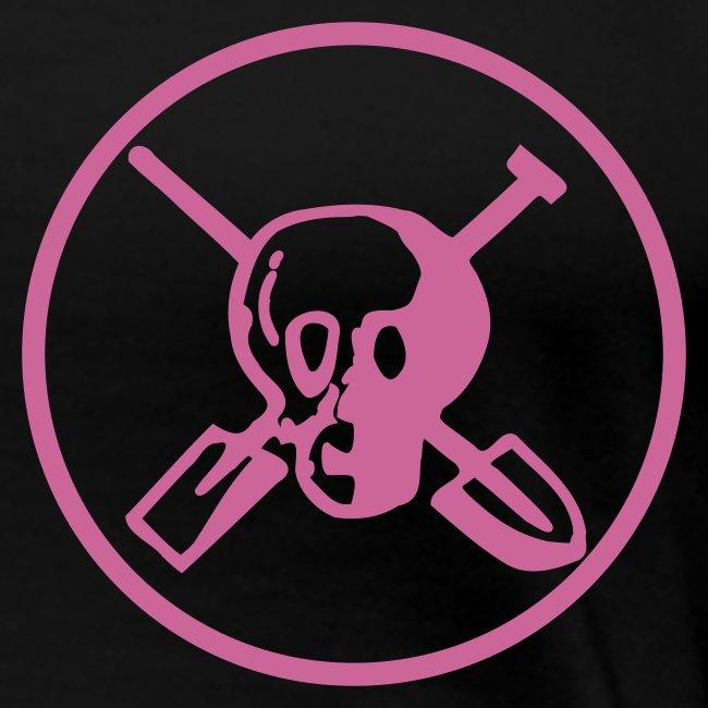 Hells Archaeologists Girlieshirt mit Motiv hinten, pink Glitter!