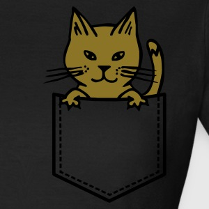 Chocolate Cat in Brusttasche T-Shirts - Frauen T-Shirt