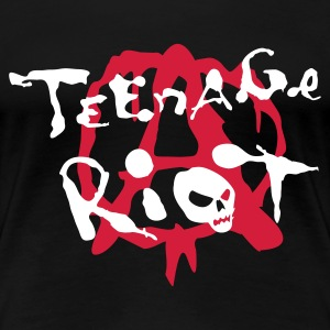 Schwarz teenage_riot T-Shirts - Frauen Premium T-Shirt