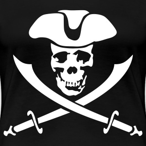 pirate skull - Frauen Premium T-Shirt