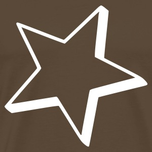 Brown Star Outline T-Shirts - Men's Premium T-Shirt