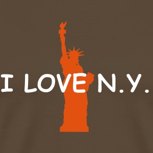 ... liberty - i love new york - Premium T-skjorte for menn