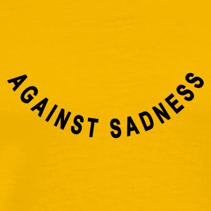 Gelb against sadness (smile) T-Shirts - Premium T-skjorte for menn