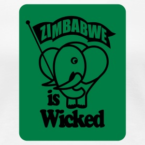 White Zimbabwe Is Wicked Women's Tees - Women's Premium T-Shirt