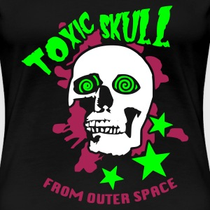 Noir Toxic Skull From Outter Space T-shirts - T-shirt Premium Femme