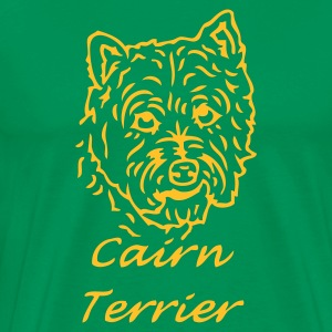 Bottlegreen cairnterrier_02 Men's Tees - Men's Premium T-Shirt