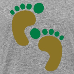 DE-Footprints color - Männer Premium T-Shirt