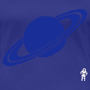 Turkis Saturn - Planet - Astronaut - Space T-shirts - Dame premium T-shirt
