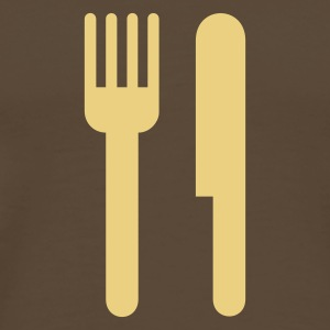 Cutlery,Knife,Fork,Hunger,Restaurant - Men's Premium T-Shirt