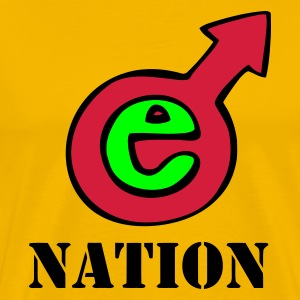 Yellow E Nation Men's T-Shirts - Men's Premium T-Shirt