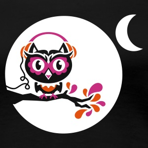 Schwarz night owl - for black shirts T-Shirts - Frauen Premium T-Shirt