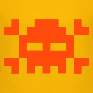 Pixel skull - Teenage Premium T-Shirt