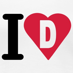 i_love_d - Women's Premium T-Shirt