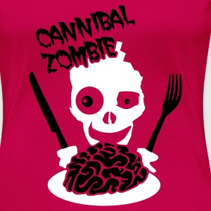Rose Cannibal Zombie T-shirts - T-shirt Premium Femme