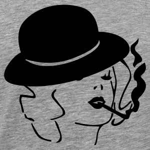 Smoking lady - Men's Premium T-Shirt