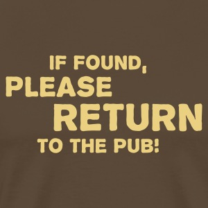 Return to Pub (v1, 1c, MPen) - Men's Premium T-Shirt
