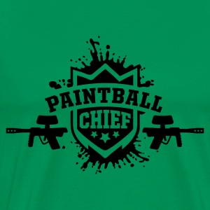 Khaki grün paintball chief T-Shirts - Männer Premium T-Shirt