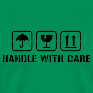 Khaki green Handle with care Men's Tees - Men's Premium T-Shirt