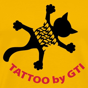 Gelb TATTOO by GTI© T-Shirts - Men's Premium T-Shirt