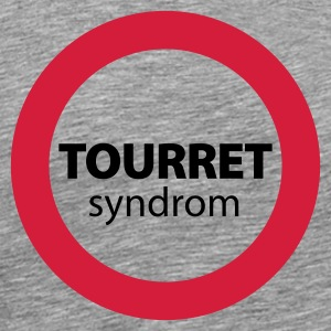 Grau meliert Tourret Syndrom© T-Shirts - Men's Premium T-Shirt