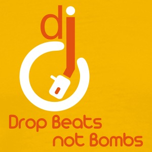 Dj Drop Beats not Bombs - Männer Premium T-Shirt