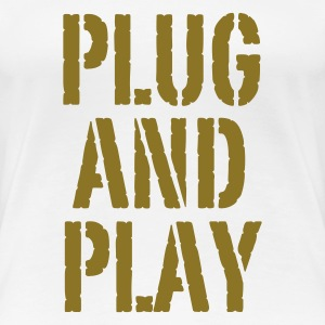 Weiß Plug and Play© T-Shirts - Women's Premium T-Shirt
