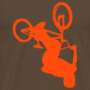 BMX Brown / Orange - T-shirt Premium Homme