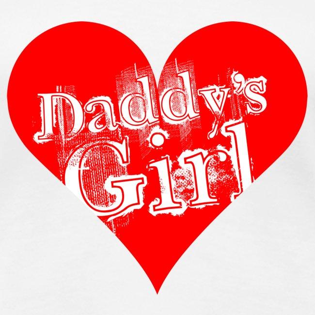 Valkoinen daddys_girl_red T-paidat