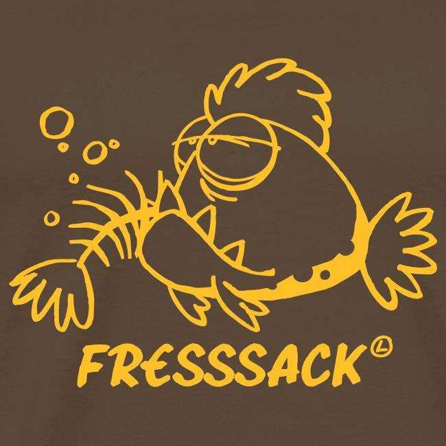 """Männer-T-Shirt """"Fressack"""" braun"""