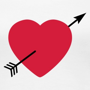 Heart round with arrow T-shirts - Vrouwen Premium T-shirt