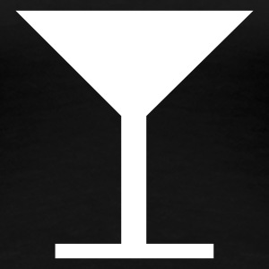 Schwarz Bar,Glas,Drink,Aperitif,Cocktail T-Shirts - Frauen Premium T-Shirt