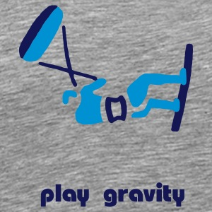 Kitesurfer plays gravity - Männer Premium T-Shirt