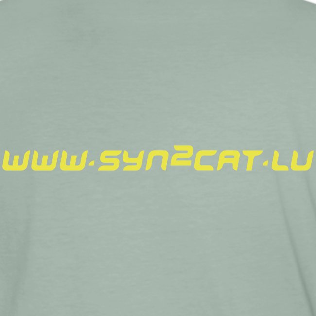 Japanese syn2cat men's shirt (green edition)