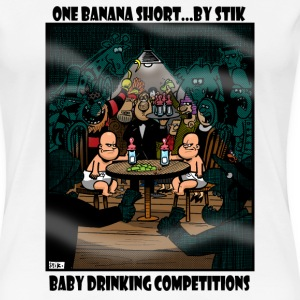 White Baby Drinking Competition Women's Tees - Women's Premium T-Shirt