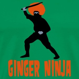 Grass green The Ginger Ninja Men's Tees - Men's Premium T-Shirt