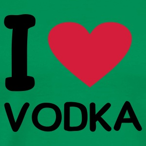 Kakigrøn I love vodka T-shirts - Herre premium T-shirt