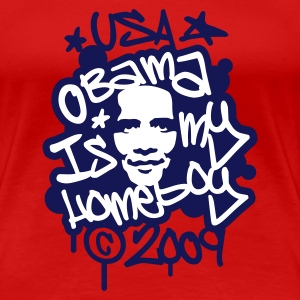 Red Obama is my homeboy Graffiti Women's Tees - Women's Premium T-Shirt