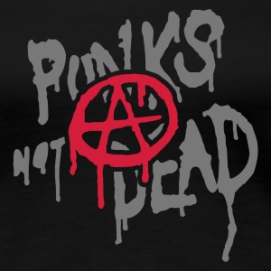 Schwarz Punks Not Dead T-Shirts - Frauen Premium T-Shirt