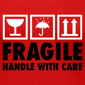 Rot fragile - handle with care T-Shirts - Frauen Premium T-Shirt
