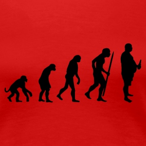 Red Evolution of the modern men Women's Tees - Women's Premium T-Shirt