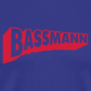 Bassmann red on blue - Männer Premium T-Shirt