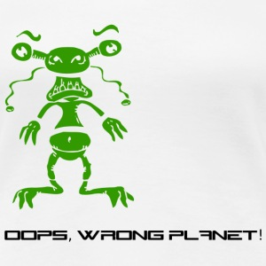 Weiß wrong_planet T-Shirts - Frauen Premium T-Shirt