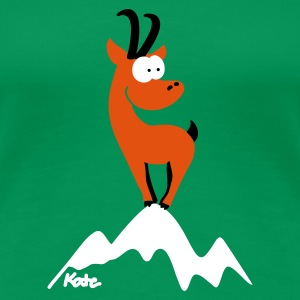Chamois on the summit - Women's Premium T-Shirt