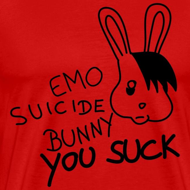 Suicide Bunny Sucks - gelb shirt