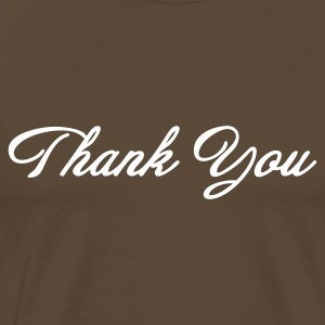 Thank You Script (1c, MPen) - Mannen Premium T-shirt