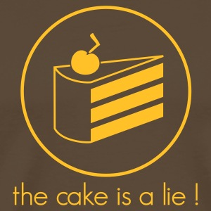 Brown / Gold Cake is a Lie Shirt - Männer Premium T-Shirt