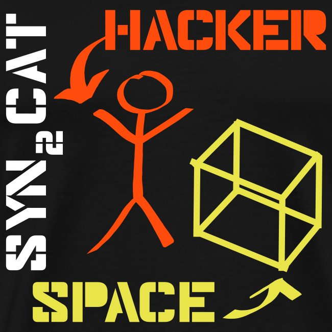 hacker + space shirt (blue edition)