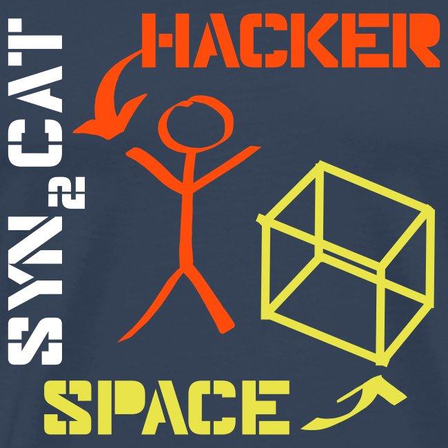 hacker + space shirt (blue edition)