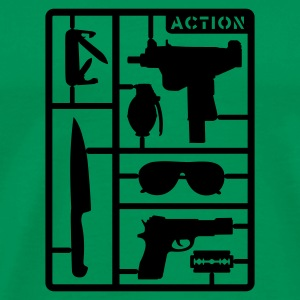 Khaki green Action Man Men's Tees - Men's Premium T-Shirt